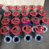 气动下展式搪瓷放料阀 HG5-89-2