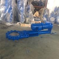 电液动铸钢耐磨刀型闸阀PZ273H-16C对夹国标矿浆阀