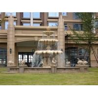 天然石材水钵 酒店门前石雕水钵 喷泉水钵