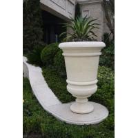 欧式石材花钵 埃及米黄花钵 绿城地产同款花钵