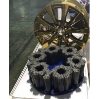 供應鋁合金輪轂自動去毛刺毛刷|鋁合金拋光毛刷