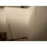 硅酸钙复合穿孔板 玻璃棉复合吸音板
