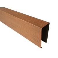 仿木铝天花方通方管 隔断幕墙背景墙装饰木纹铝方管