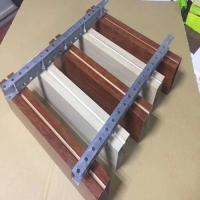 商場天花吊頂U型木紋熱轉印鋁方通幕墻吊頂材料鋁方通