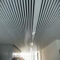 商场天花吊顶U型木纹热转印铝方通幕墙吊顶材料铝方通
