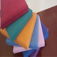 巖棉布藝吸音板 防火布藝吸音板 25mm阻燃布藝造型吸音板