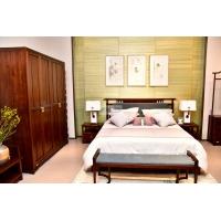 现代新中式实木家具 实木床 实木衣帽间