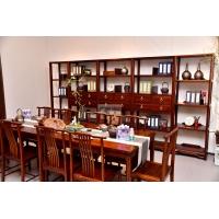 新中式实木家具价格 福叶檀府餐厅实木家具
