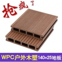 河北园林木塑地板 140H25空心实心圆孔木塑地板 木塑制品