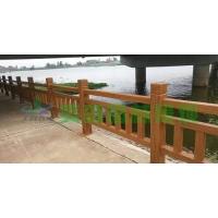 混凝土仿木护栏,水泥仿木栏杆价格