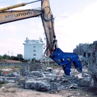 挖掘机勾机钢筋混凝土快速破碎液压快速破碎钳