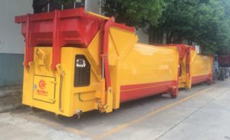 压缩式勾臂式移动垃圾站箱专业生产