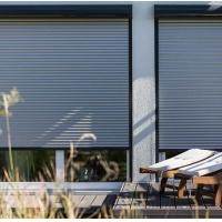 铝质卷帘遮阳 铝合金自动卷帘窗 兴发系统