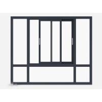 推拉防盗窗 推拉窗保养密封护栏 室内白色厨房推拉窗 洛比亚门