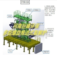 河南巨峰 供應多組螺旋推進式裂解爐 無氧裂解爐