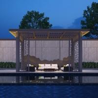 新中式凉亭 凉亭造价 铝合金凉亭图片