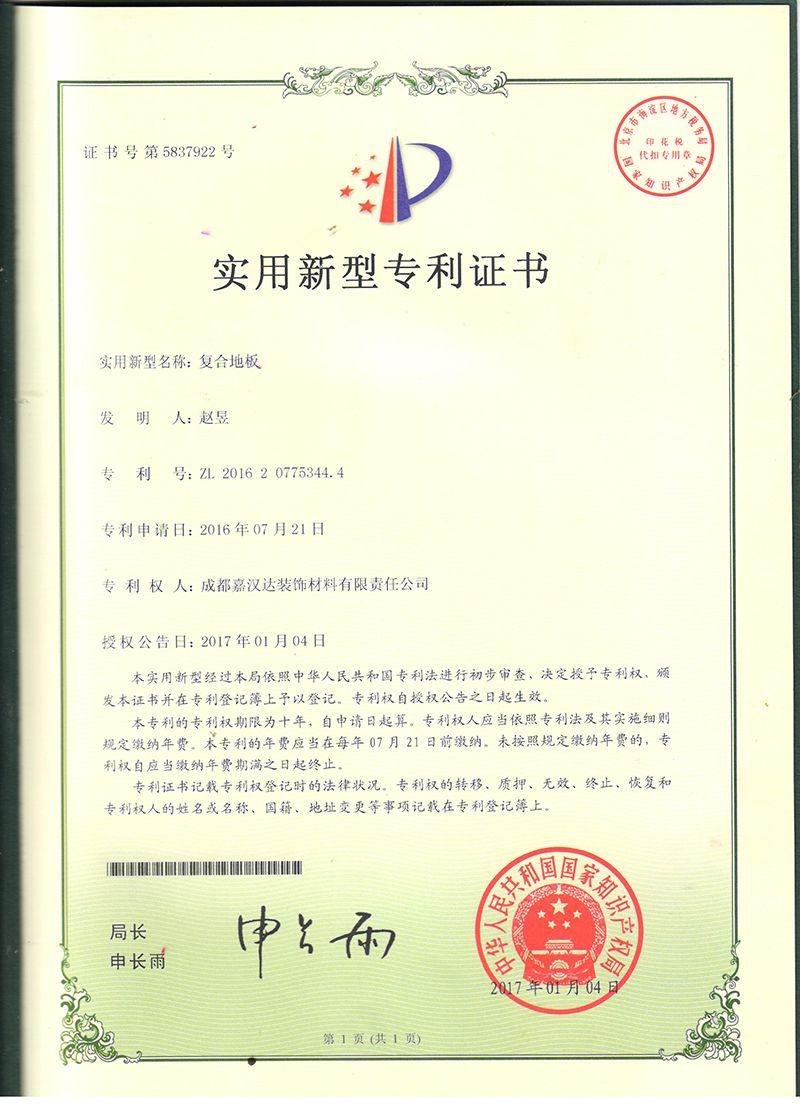2017专利证书