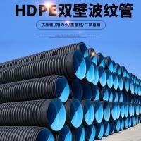 HDPE双壁波纹管400PE波纹管价格排水波纹管SN8波纹管