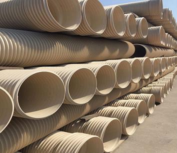 PVC-U加筋管硬质聚氯乙烯PVC-U波纹管道路SN8SN4