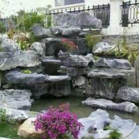 甘肃园林庭院假山喷泉造型奇特太湖石