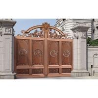 深圳铝艺别墅大门对开门,铝合金庭院门家用院子电动双开门平移门