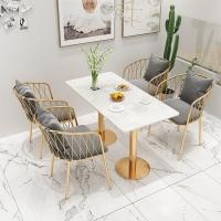 一桌四椅奶茶店桌椅价格休闲吧网红桌椅价格美容院茶桌椅供应商