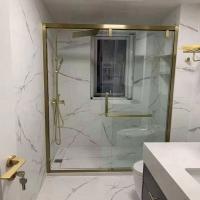 红房子淋浴房整体浴室屏风简易卫生间浴屏一字淋浴隔断移门洗澡间