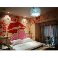 主题壁画,主题酒店设计,情趣房效果图