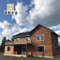 预建制户外木屋装配式小型度假休闲农家乐梁柱式木别墅房屋酒店