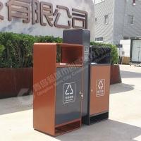 新城市戶外不銹鋼分類垃圾桶金屬商場市政小區果皮箱垃圾箱