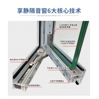 广西南宁享静隔音窗三层PVB夹胶隔音玻璃