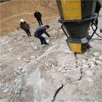 安徽六安.液壓劈裂機礦山靜態破碎硬石頭