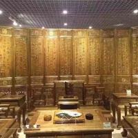 高端金絲楠裝飾-南京墻布布墻板-綠美居無縫壁畫