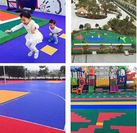 幼儿园卡通拼装地板篮球场专用运动地板pp悬浮地板