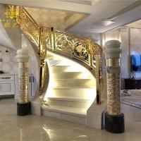 江西铜艺雕刻楼梯扶手 挥一条优美弧线