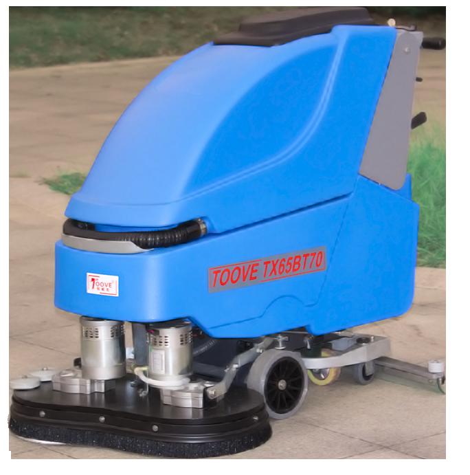 拓威克手推双刷电瓶式洗地机自驱行走65L水箱报价