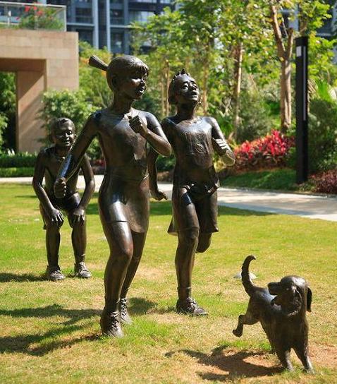 铸铜儿童雕塑人物雕塑