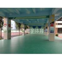 PVC运动地板-学校PVC地板胶施工案例工程__环保材质_经