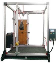 整樘、平開、旋轉門垂直、抗靜扭曲 和軟重物撞擊性能試驗機
