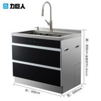 力巨人LSX01集成水槽保洁柜一体厨房手工双槽 橱柜 大容量
