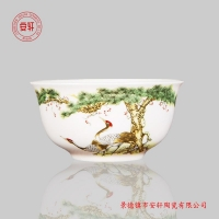 景德镇礼品寿碗定制