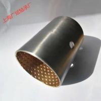 上海JF800自潤干式雙金屬軸承內銅外鋼復合卷制軸套鋼背銅套