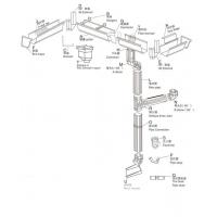 铝合金成品雨水槽别墅专用排水管