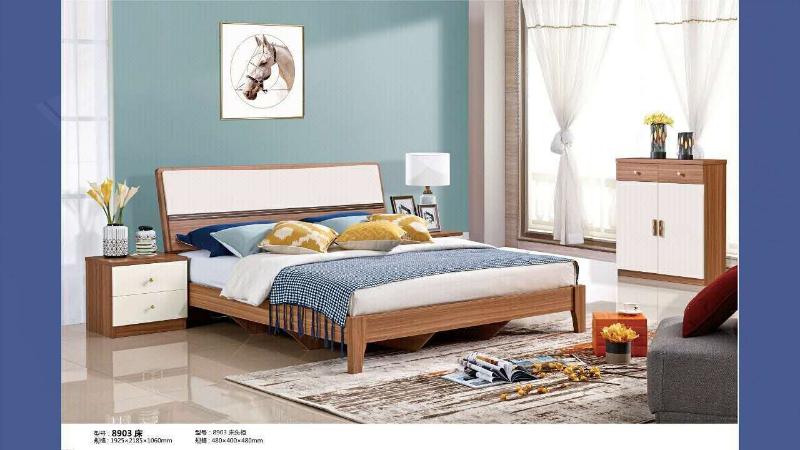 简朗8903床+床头柜+床垫