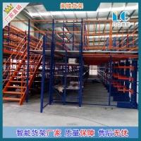 搭建钢构仓库二层工业厂房重型阁楼平台式货架