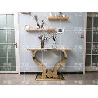 后现代大理石玄关台样板房客厅不锈钢入门玄关桌子简约家具